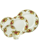 Royal Albert Old Country Roses Bone China 5 Piece Place Setting Service for 1 15210002