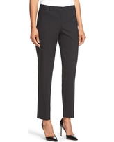 BOSS Tiluna Slim Stretch Wool Suit Trousers, Size 0 in Black at Nordstrom
