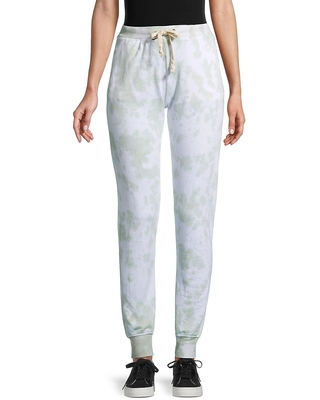 Theo & Spence Women's Tie-Dyed Jogger Pants - Green - Size XS