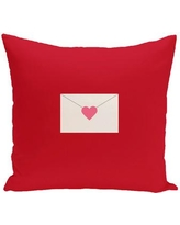 "The Holiday Aisle Valentine's Day Envelope Throw Pillow HLDY6054 Color: Pale Pink, Size: 26"" H x 26"" W"