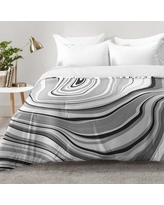 East Urban Home Marble Comforter Set EAHU7333 Size: King