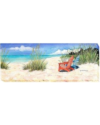 """Artistic Home Gallery 'Happiness Is...' Painting Print on Wrapped Canvas 1618IG Size: 15"""" H x 40"""" W x 1.5"""" D"""