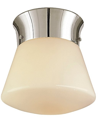Visual Comfort Perry Flushmount Light - Color: White / Nickel