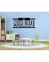 Lil Little Man Cave Vinyl Wall Decal Quote Nursery Playroom Vinyl Wall Sticker Art Mancave Decal Qlmc1