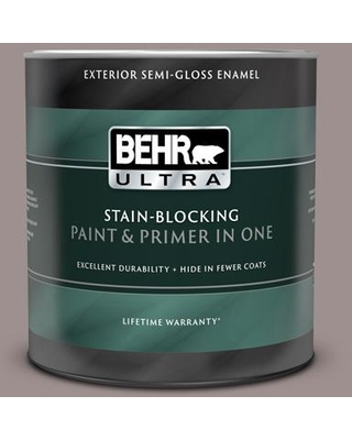 BEHR ULTRA 1 qt. #780B-5 Cheyenne Rock Semi-Gloss Enamel Exterior Paint and Primer in One