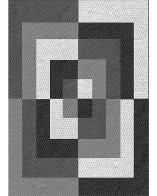 Abstract Wool Gray Area Rug East Urban Home Rug Size: Rectangle 2' x 4'