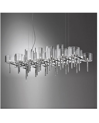 Spillray 26 LED Chandelier by Axolight - Color: Gray (USSPIL26GRCRLED)