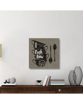 """East Urban Home 'Linen Coffee III' Graphic Art Print on Canvas UBAH6147 Size: 30"""" H x 30"""" W x 1.5"""" D"""