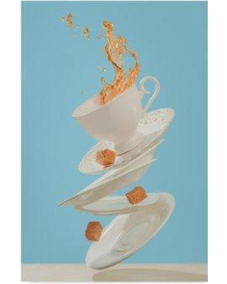 """East Urban Home 'Coffee for a Stage Magician' Photographic Print on Wrapped Canvas W000751701 Size: 24"""" H x 16"""" W x 2"""" D"""