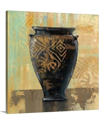 "Canvas On Demand 'Glazed Pot III Decorative Accents' by Silvia Vassileva Painting Print on Canvas 1052809_24 Size: 20"" H x 20"" W x 1.5"" D"