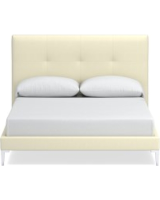 Brooklyn Bed, King, Brushed Canvas, Natural, Polished Nickel