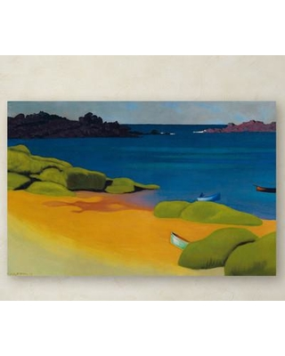 """Trademark Fine Art """"Bay of Tregastel 1917"""" by Felix Vallotton Painting Print on Wrapped Canvas BL01319-C Size: 16"""" H x 24"""" W x 2"""" D"""