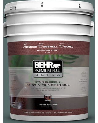 BEHR Premium Plus Ultra 5 gal. #N430-6 Meteorological Eggshell Enamel Interior Paint and Primer in One