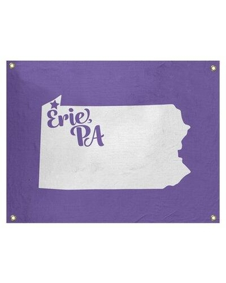 """East Urban Home Erie Pennsylvania Wall Tapestry - Indoor/Outdoor EBJB7028 Size: 26"""" H x 36"""" W Color: Purple"""