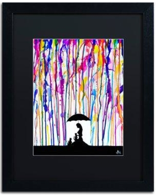 """Trademark Fine Art 'Cat's Cradle' Framed Painting Print on Canvas, Format:Framed, Matte, Canvas & Fabric in Black, Size 20"""" H x 16"""" W 