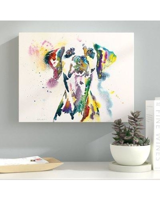 "Latitude Run Dalmatian Painting Print on Wrapped Canvas LTRN6813 Size: 36"" H x 48"" W x 2"" D"