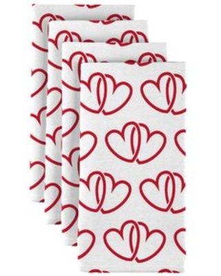 """A Pair of Hearts 18"""" Napkins Fabric Textile Products, Inc."""