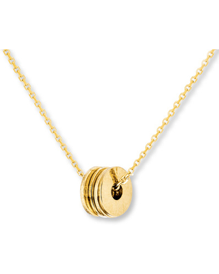 Jared Floating Disc Necklace 14K Yellow Gold