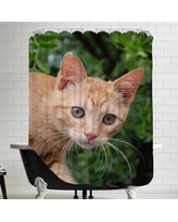East Urban Home Lovely Cat Animal Shower Curtain HACO3214