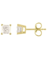 14K Diamond Stud Earring Yellow gold (3/8cttw H-I Color, I2 Clarity) (Yellow)