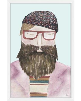 """Marmont Hill 'The Bearded Man' Framed Painting Print MH-JULFRM-151-NWFP- Size: 45"""" H x 30"""" W x 1.5"""" D"""
