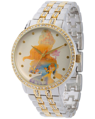 Disney Beauty and the Beast Womens Two Tone Stainless Steel Bracelet Watch-Wds000069, One Size , No Color Family