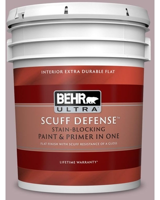 BEHR ULTRA 5 gal. #100F-4 Dark Lilac Extra Durable Flat Interior Paint & Primer