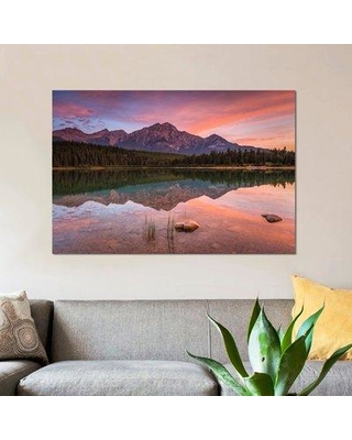 """East Urban Home 'Patricia Lake Glory' Photographic Print on Canvas ESUI1600 Size: 18"""" H x 26"""" W x 0.75"""" D"""
