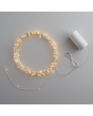 White Micro LED 150 Bulb Battery Operated String Lights by World Market