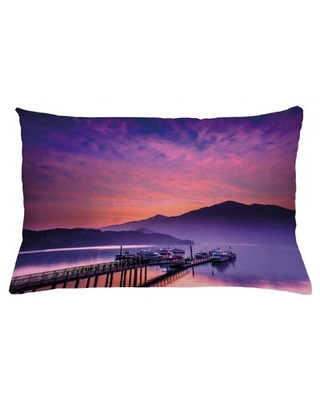 "Landscape Indoor / Outdoor Lumbar Pillow Cover East Urban Home Size: 16"" x 26"""