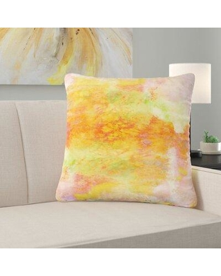 """East Urban Home Couch Pastel Creations III Throw Pillow W001176204 Size: 16"""" x 16"""""""