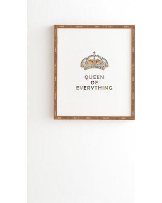 East Urban Home 'Queen of Everything' Framed Graphic Art Print EBHU5897