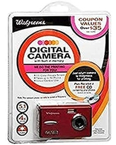 5.1MP Digital Camera with 1.5-Inch Screen (89480-RED-WG)