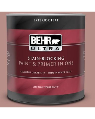 BEHR ULTRA 1 qt. #160F-4 Ponder Flat Exterior Paint and Primer in One