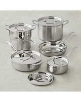 Cuisinart Multiclad Tri-Ply Stainless-Steel 12-Piece Cookware Set