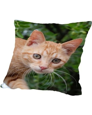 """East Urban Home Lovely Cat Throw Pillow ESRB1094 Size: 18"""" H x 18"""" W"""