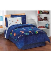 Dream Factory Galaxy Space 6-piece Bed in a Bag with Sheet Set (Twin - 6 Piece)