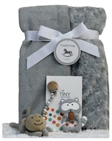 3 Stories Trading Company 4 Piece Baby Blanket Gift Set 3S-BlankTeeth-3ST