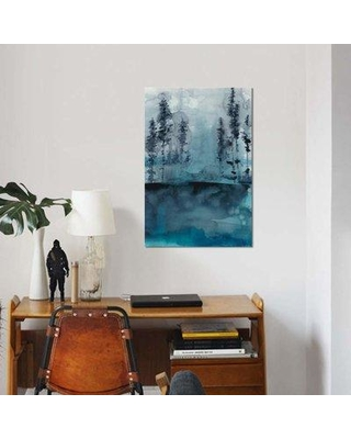 """East Urban Home 'Winter Woods I' Graphic Art Print on Canvas EBHS5857 Size: 18"""" H x 12"""" W x 0.75"""" D"""