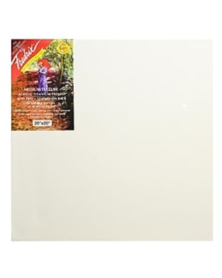 Fredrix Red Label Stretched Cotton Canvas 20 in. x 20 in. each,Size: med