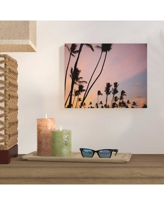"Bay Isle Home 'Napili Palm Sunrise' Photographic Print on Wrapped Canvas BYIL2053 Size: 11"" H x 14"" W"
