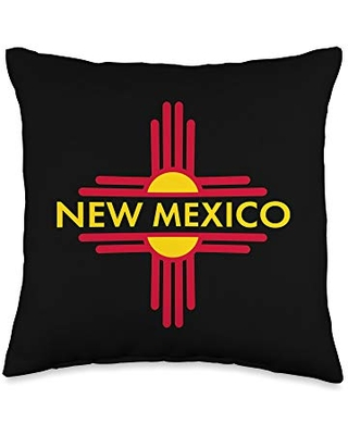 New Mexico Gifts by MCMA New Mexico State Zia Symbol Design Throw Pillow, 16x16, Multicolor