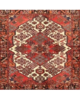 Spectacular Savings On Marcotte Traditional Red Black Light Yellow Area Rug Bloomsbury Market Rug Size Round 4