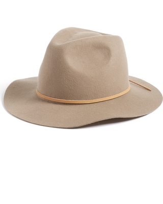 81942058bb6fc9 Great Deal on Women's Brixton 'Wesley' Wool Fedora - Brown