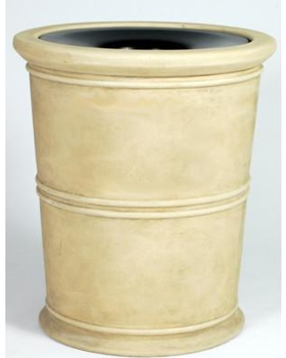 Allied Molded Products Havana 35 Gallon Trash Can 7H2731TA Color: Beige
