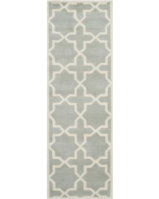 """Wrought Studio Wilkin Hand-Tufted Wool Gray/Ivory Area Rug VKGL5142 Rug Size: Runner 2'3"""" x 9'"""