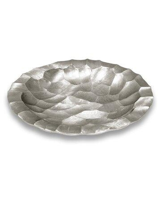 """Mercer41 Norberto Metal Decorative Plate X114488883 Color: Silver Size: 3"""" H x 21"""" W x 21"""" D"""