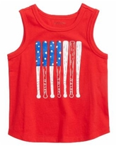 First Impressions Baby Boys Baseball-Print Cotton Tank Top, Created for Macy's - Cherry On