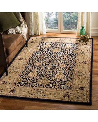 Astoria Grand Evie Hand-Tufted Wool Blue/Gold Area Rug ASTG8869 Rug Size: Rectangle 3' X 5'