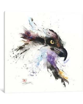 """East Urban Home 'Eagle II' Painting Print on Wrapped Canvas ESTN7713 Size: 12"""" H x 12"""" W x 0.75"""" D"""
